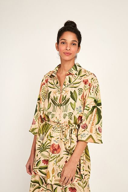 Vestido Camisa Inverno Tropical Farm
