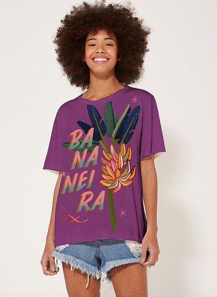 T-shirt Fit Bananeira Roxa Farm