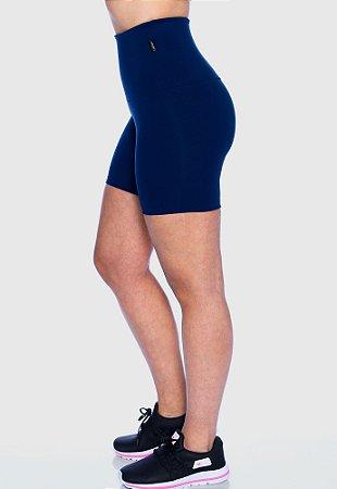 Short Fitness Super Alto Azul Marinho