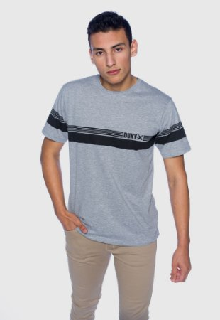 Camiseta Masculina Listra Cinza