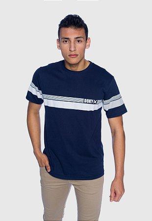 Camiseta Masculina Listra Azul Marinho