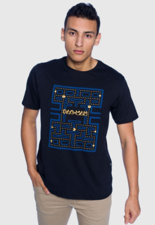 Camiseta Masculina Pac Man