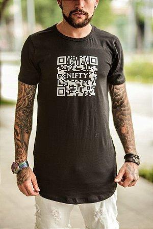 Camiseta Nifty QR Code Black