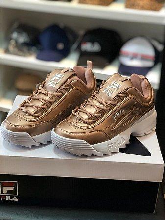 Tênis Fila Footwear Disruptor Metallic Golden