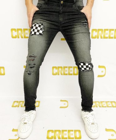 Calça Creed Skinny Forro Quadriculado