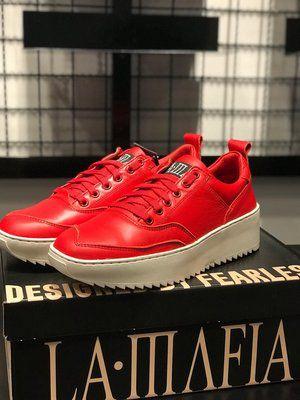 Tênis LaMafia Clothing Tratorado Red Couro