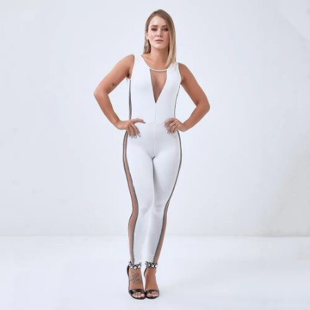 Macacão Labellamafia Miss Robot All White