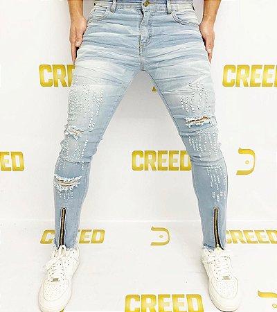 Calça Creed Skinny Zíper