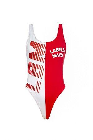 Body LabellaMafia Branco/Vermelho