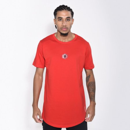 Camiseta Dabliu Basic Hexagono Red