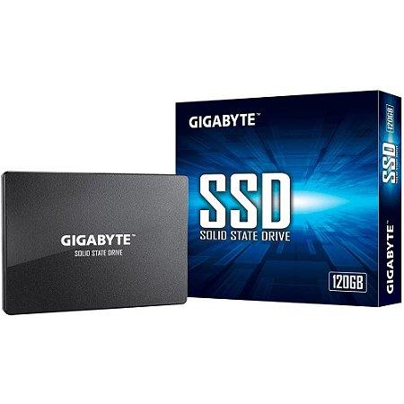 SSD Gigabyte 120GB, SATA, Leitura 500MB/s, Gravação 380MB/s - GP-GSTFS31120GNTD
