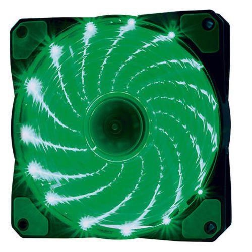 Cooler Fan 12cm Com 15 Leds Verde Oex Game F20
