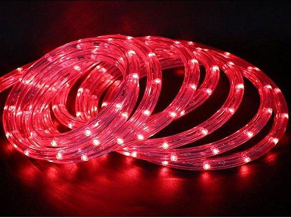 Mangueira de LED Redonda Vermelha Por Metro