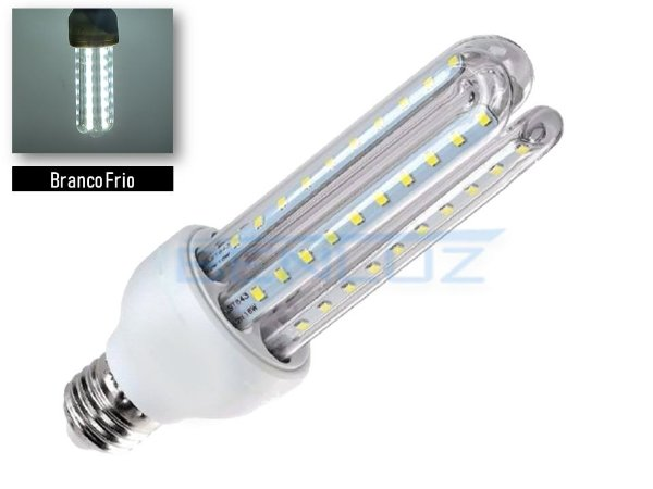 Lâmpada LED Milho 3U 24W Branco Frio 6500K