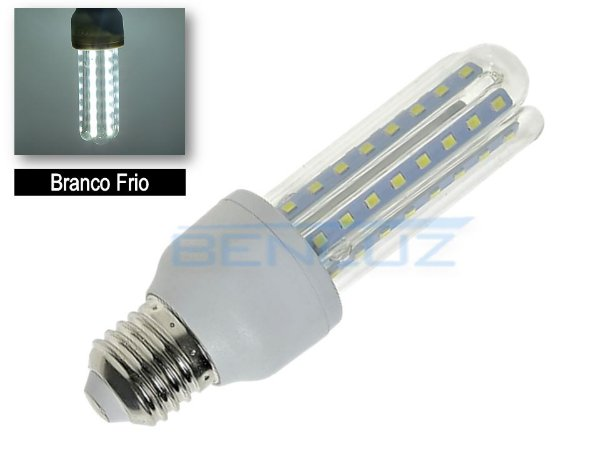 Lâmpada LED Milho 3U 9W Branco Frio 6500K