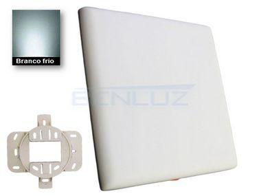 Luminária Plafon LED 12W Borda infinita Quadrada 10x10cm 2 em 1 Branco Frio 6500K