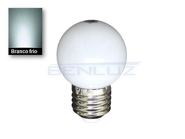Lâmpada Bulbo 2,5W LED Bolinha Branco Frio 220v