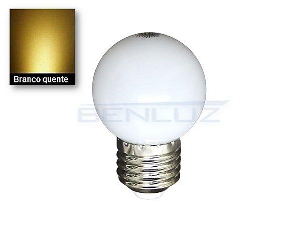 Lâmpada Bulbo 2,5W LED Bolinha Branco Quente 220v