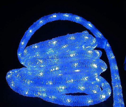 MANGUEIRA LED AZUL ESPECIAL ICE LIGHT CORRUGADA