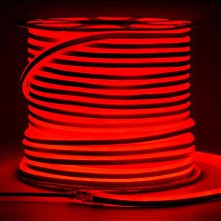Mangueira Neon De LED Flexível Rolo com 100 Metros Vermelha