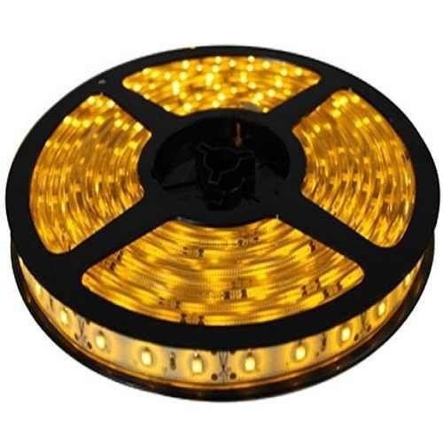 Fita LED 3528 Amarela (Âmbar) com Silicone IP65 12V  4,8w por metro Rolo com 5 metros