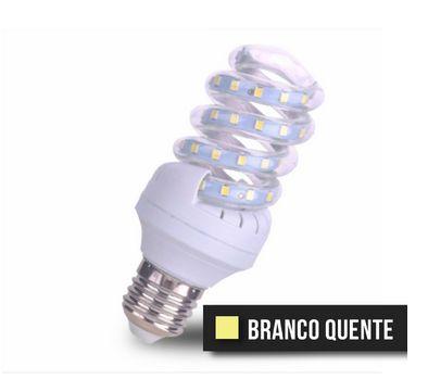 Lâmpada Espiral LED 20W - Branco Quente Bivolt
