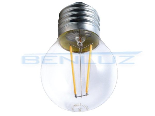 Lâmpada Bulbo LED 4W Mini Bolinha Filamento Branco Frio Bivolt