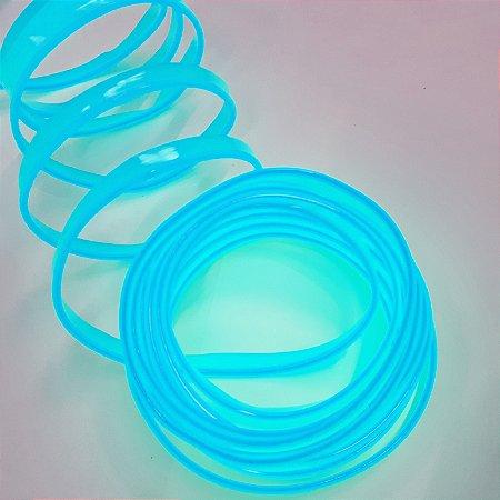 Fita LED Tubo Neon Azul Fluorescente Blindado 5M 12V