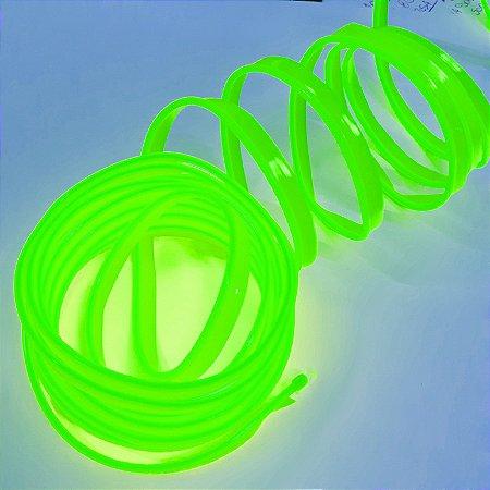 Fita LED Tubo Neon Verde Blindado 5M 12V