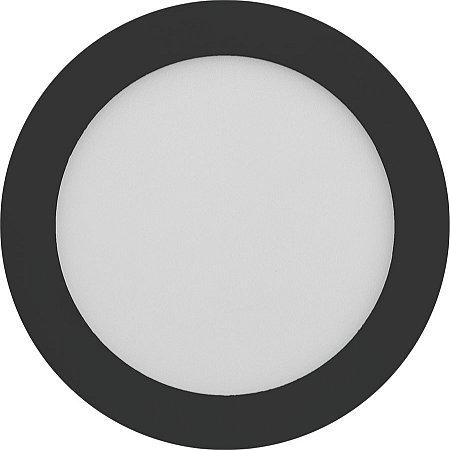 Painel Plafon LED 18W de Embutir 22x22 Borda Preta Branco Frio