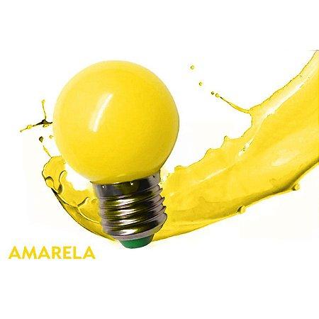 Lâmpada Bulbo 1W LED Bolinha Amarela 127V