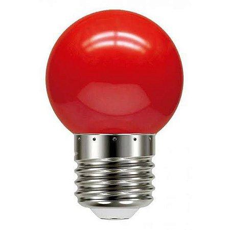 Lâmpada Bulbo 1W LED Bolinha Vermelha 127V