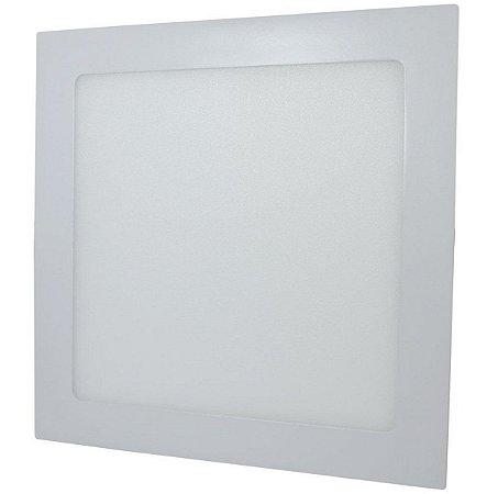 Luminária Painel Plafon LED 18W de Embutir 22x22 Branco Quente