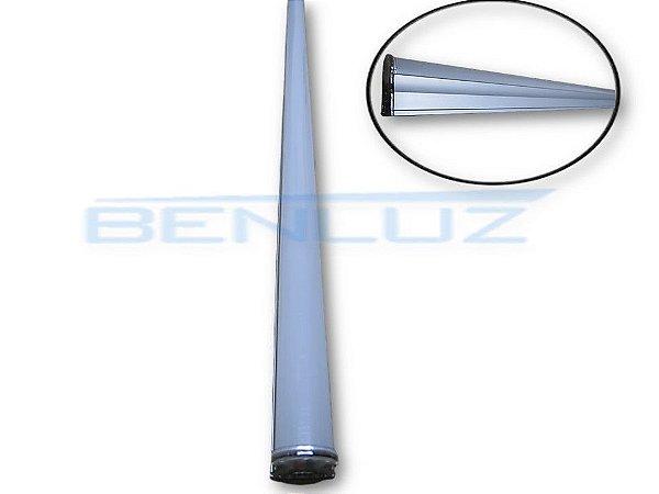 Lâmpada Tubular LED 8W com calha fosco T5 57cm Branco Quente