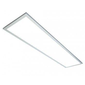 Luminária Painel Plafon LED 45W de Embutir 32x122 Branco Morno