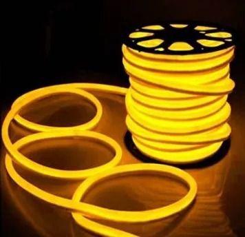 Mangueira Neon De LED Flexível Rolo com 50 Metros amarelo