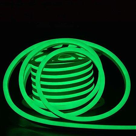 Mangueira Neon De LED Flexível Rolo com 50 Metros Verde