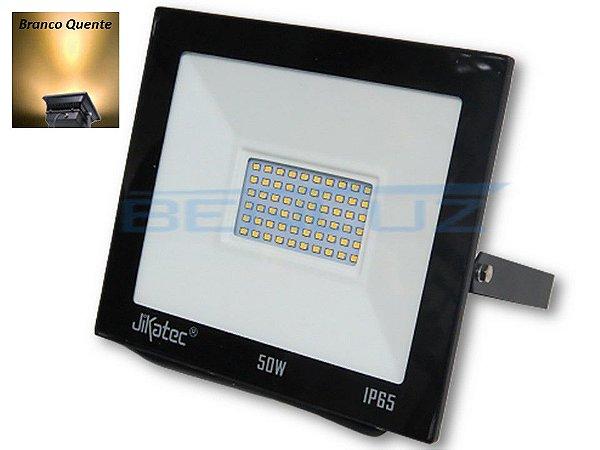 Refletor Holofote De LED 50W Branco Quente A Prova d'água