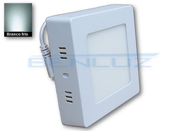 Luminária Painel Plafon LED 6W 12x12 Quadrado De Sobrepor Branco Frio