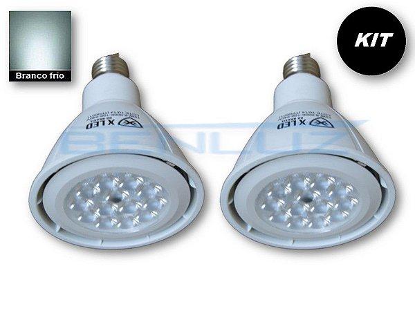 𝐊𝐈𝐓 - 2 Lâmpada LED PAR30 12W  - Branco Frio