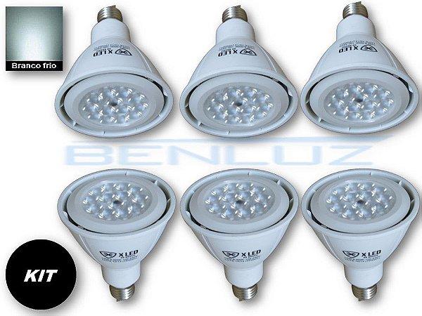 𝐊𝐈𝐓 - 6 Lâmpada LED PAR30 12W Branco Frio