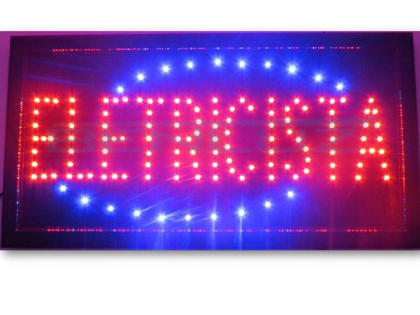 Painel Letreiro LED Sing - Eletricista