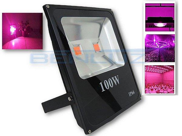 𝐄𝐱𝐜𝐥𝐮𝐬𝐢𝐯𝐨 - Refletor Holofote LED 100W com chip Grow A Prova d'água