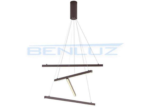Pendente 66×120cm Acrilico Marrom LED 36W 3000k Bivolt