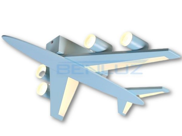 Plafon 52×50×7cm Metal+acrilico Azul LED 36W 3000k Bivolt