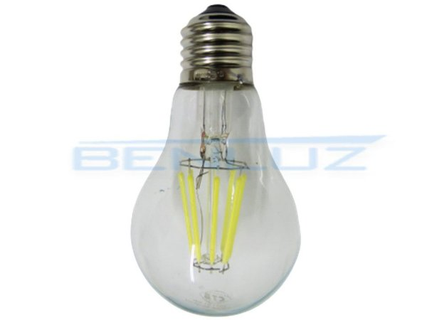 Lâmpada LED 8W G80 Filamento Branco Quente Bivolt