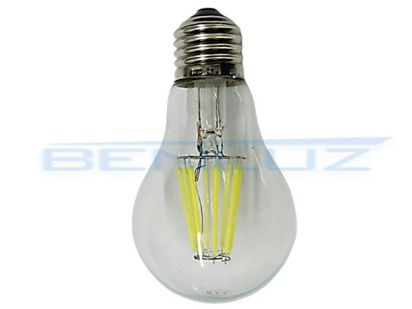 Lâmpada Bulbo LED 8W A60 Filamento Branco Quente Bivolt