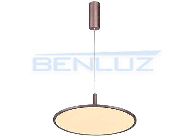 Pendente 45×120 Acrilico Marrom 30W LED Bivolt