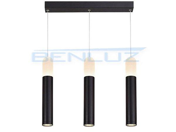 Pendente 47×6×h120cm Preto Acrilico Aluminio LED 30W 3000k 1760lm