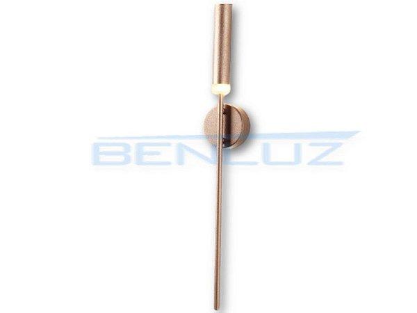 Arandela 10×7×a65cm Dourado Aluminio Aclirico LED 7W 3000k Bivolt